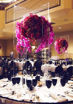 LUXE EVENT RENTALS LLC - centerpiece idea if we have a buffet or on the corners of the risers, maybe the top could be a table