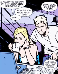 """Clint Barton is the Master of """"Wait, that came out wrong"""". Hawkeye #15"""
