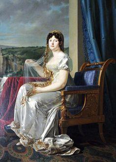 """Wedding Portrait of Catharina of Württemberg, Königen von Westphalen"" by Johann Baptist Seele (1807)"