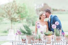 Green and purple tablescape   Chris Loring Photography   see more on: http://burnettsboards.com/2015/12/roots-shoot-an-elegant-organic-farm-wedding/