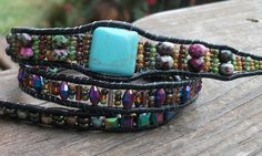 Beaded Wrap Bracelet, very large pic on click