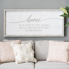 "Everyone knows the saying, ""Home is where the heart is,"" but it's also so much more than that! This wall plaque is a reminder that your home tells a story, and you get to write that story every day."