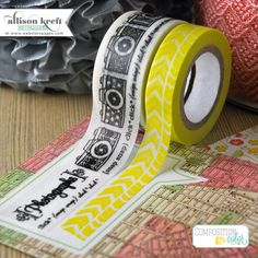 brand new Composition & Color washi tape by @Webster's Pages & Allison Kreft Designs #CHA2013