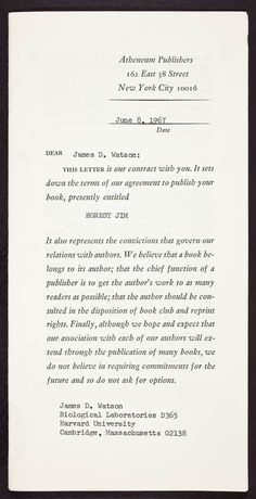 Pin by law offices of lloyd j jassin on old publishing contracts atheneum publishers author agreement transmittal cover 1967 platinumwayz