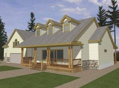 Country House Plan with 4681 Square Feet and 4 Bedrooms(s) from Dream Home Source | House Plan Code DHSW67386