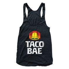Taco Bae Tri Blend Athletic Racerback Tank Top