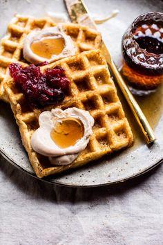Crujientes waffles belgas | halfbakedharvest.com @hbharvest