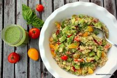 Quinoa Salat Rezept {flowers on my plate}