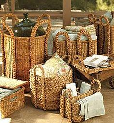 The Little Corner Pottery Barn Baskets, Bountiful Baskets, Rectangular Baskets, Little Corner, Basket Bag, Basket Decoration, Nature Decor, Wicker Baskets, Cane Baskets