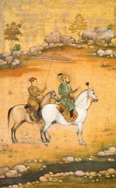 Shah Jahan and Dara Shikoh by Govardhan, ca.1638 | Victoria and Albert Museum | Tumblr