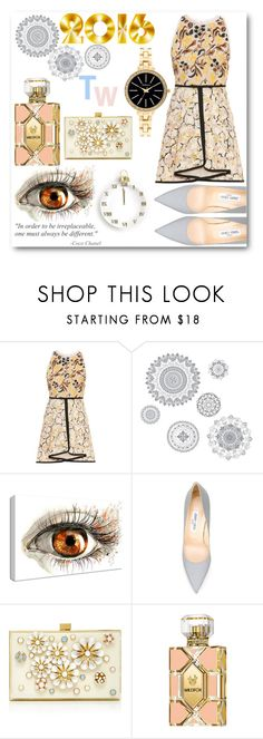 """Happy New Year"" by tween-weekly on Polyvore featuring Giambattista Valli, WallPops, Jimmy Choo, Chanel, Elie Saab, Wildfox and Style & Co."