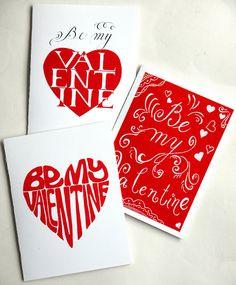 Valentine's Day Card Be My Valentine original by IllustratedByAnya