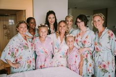 Silk Floral Robes for the ladies at Whitney and Tyler's Newport Vineyards Wedding Newport Vineyards, Vineyard Wedding, Bridesmaid Gifts, Real Weddings, Engagement, Silk, Bridal, Lady, Floral