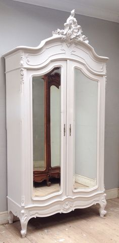 Super elegant Rococo armoire / French antique sourced from the Loire / 'Slipper Satin' painted / Frenchfinds.co.uk