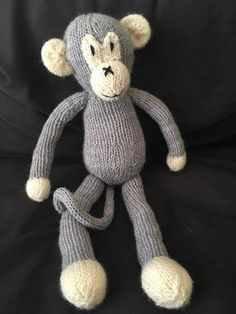 This knitting pattern is for a Knitted Monkey. He is adorable and full of character and spirit This knitting pattern is for a Knitted Monkey. He is adorable and full of character and spirit Baby Knitting Patterns, Teddy Bear Knitting Pattern, Knitted Teddy Bear, Knitting For Kids, Free Knitting, Knitting Projects, Crochet Patterns, Knitting Toys, Knitted Doll Patterns