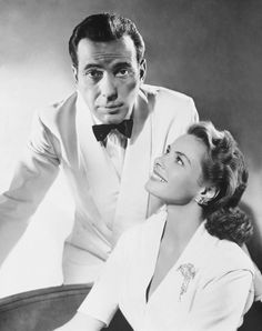 """Ingrid Bergman & Humphrey Bogart in Casablanca is so classically romantic! """"here's to lookin at you kid"""" """"play it again, Sam"""" ahhh some of the best lines...BUT, the best line comes from a different romantic movie..."""