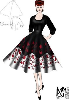 1950s long skirts | 1950s Skirt and Blouse