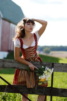 Sweet Summer  Bavarian German Dirndl Dress by ClassicGermanClothes, $459.00