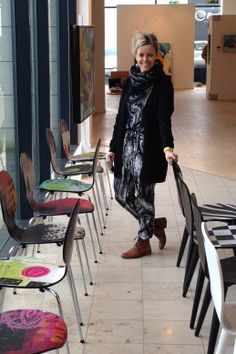 My painted chairs and me. Janne Jacobsen