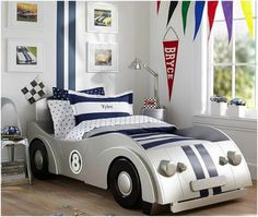 Ideas para las habitaciones temáticas de los chicos | Habitaciones Tematicas Boys Car Bedroom, Boy Toddler Bedroom, Cool Kids Bedrooms, Car Bedroom Ideas For Boys, Baby Boy Rooms, Toddler Rooms, Trendy Bedroom, Comfy Bedroom, Dream Bedroom