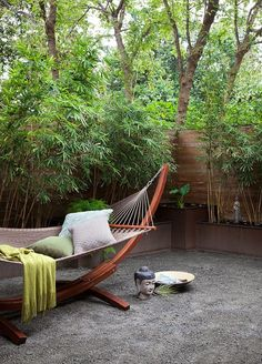 15 Most Popular Asian Garden Design Inspiration for Your Backyard - Home Bigger Backyard Hammock, Outdoor Hammock, Large Backyard, Hammock Ideas, Modern Backyard, Asian Garden, Modern Landscape Design, Modern Landscaping, Landscaping Ideas