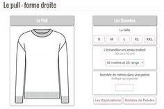 Pull homme - forme droite