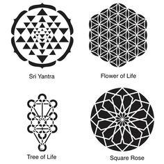Ideas For Tattoo Geometric Sacred Geometry Mandalas Sacred Geometry Patterns, Sacred Geometry Tattoo, Geometric Patterns, Trendy Tattoos, New Tattoos, Flower Of Life Tattoo, Tattoo Flowers, Geometric Trees, 5 Elements