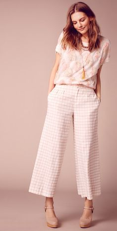 Windowpane Culottes #AnthroFave