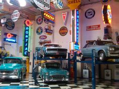 BendPak car lifts make for an awesome classic car garage.
