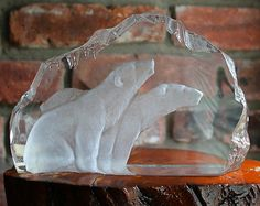 RARE Kosta Boda Mats Jonasson Polar Bear Art Glass Sculpture Bears Signed 93153   eBay