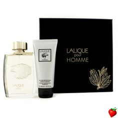Lalique Lalique Pour Homme Coffret: Eau De Parfum Spray 125ml/4.2oz + Perfumed Hair & Body Shower Gel 100ml/3.3oz 2pcs #Lalique #Perfume #MensSets #MensGift #StrawberryNET