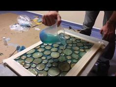 Table of waste wood and epoxy resin ArtLine Crystal+!!! Стол из обрезков и смолы ArtLine Crystal+! - YouTube
