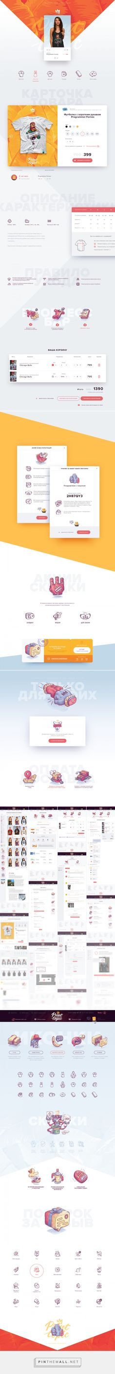 Print Topic Shop | Web design | Ui | illustration on Behance - created via https://pinthemall.net