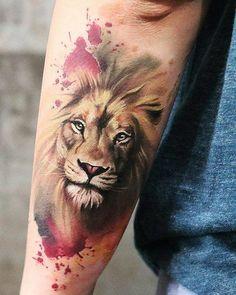 50 eye-catching lion tattoos that make you want to ink – # on # eye-catching # the… - tatoo feminina M Tattoos, Maori Tattoos, Trendy Tattoos, Popular Tattoos, Animal Tattoos, Body Art Tattoos, Leo Lion Tattoos, Tattoos Of Lions, Mandala Lion Tattoo