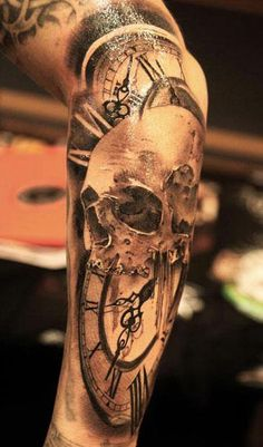 Realism Skull Tattoo by Miguel Bohigues - http://worldtattoosgallery.com/realism-skull-tattoo-by-miguel-bohigues-2/