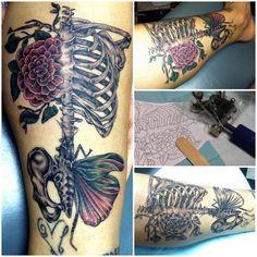 20 skeleton rib cage tattoo designs, more skull inspirations and tattoo designs at skullspiration.com