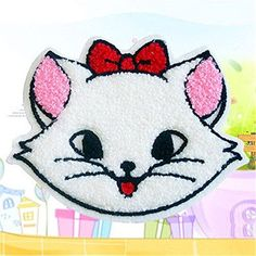 Big White Cat Embroidery Cloth Iron On Patch Sewing Motif Applique DIY >>> Read more at the image link. How To Iron Clothes, Iron On Patches, Appliques, Hello Kitty, Craft Projects, Image Link, Snoopy, Embroidery, Sewing