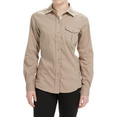 Craghoppers Kiwi Shirt - UPF 40+, Long Sleeve (For Women) in Almond