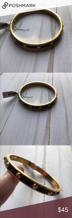 New Coach Goldtone Black Bracelet New with tags Coach bangle bracelet.  Gold tone with black. Coach Jewelry Bracelets