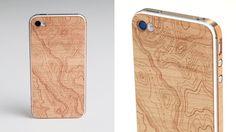 * wooden iphone skin