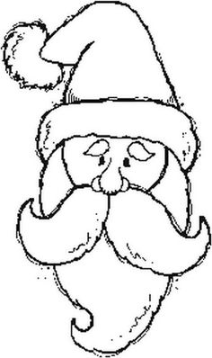 This Santa would be a great rug hooking pattern