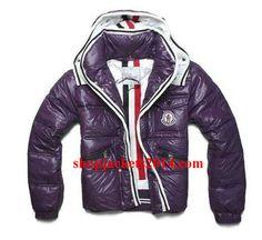 Moncler Outlet UK Men Branson Purple Quilted Down Zip Jacket