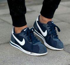 Blue Nike Cortez