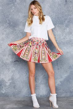 Sweet Surprise Pocket Skater Skirt - 48HR ($75AUD) by BlackMilk Clothing