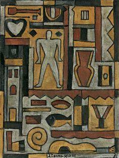 Joaquín Torres-García, Constructivo en colores. Oleo sobre tela 77.5 x 58.4 cm $250,000-300,00