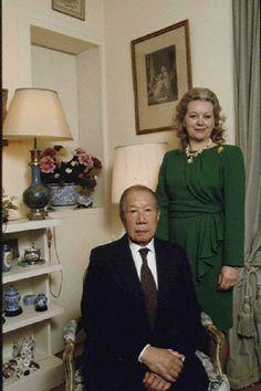 Bao Dai, last Emperor of Vietnam with his wife  Princess Monique Vinh Thuy