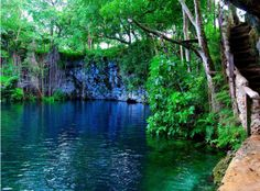Dudu Blue Lagoon: Dominican Republic. A favorite swimming spot of our staff & students!