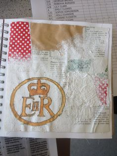 Leanne Floweth: Collage, Applique, Stitch, Vintage, Emulsion, text book, book pages
