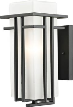 Z-Lite 550S-ORBZ Abbey Oil Rubbed Bronze Exterior Wall Mounted Lamp - ZLT-550S-ORBZ