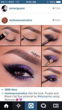 Purple shadow #motivescosmetic
